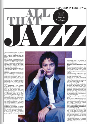 Exposed Magazine Jamie Cullum