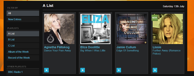 BBC Radio 2 A List